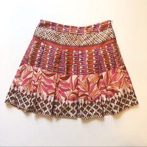Sugar Lips Bold Tribal Skirt Size Small 100% Silk